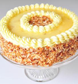 Ovocný dort s krémem - ananas