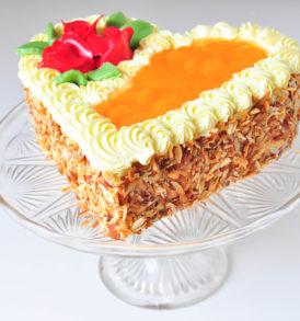 Ovocný dort s krémem - mandarinka